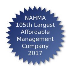 NAHMA 105th Largest Affordable Management Company